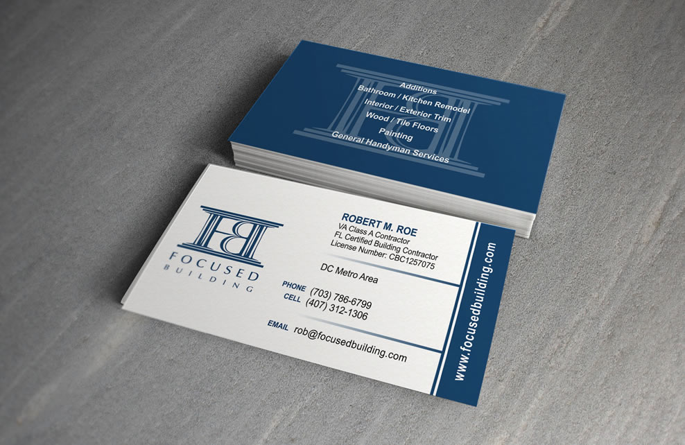 Business Card – Focused Building | Mojo